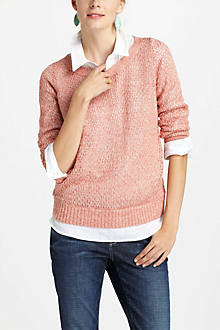 Glimmered Pointelle Pullover
