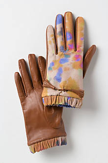 Painterly Leather Gloves