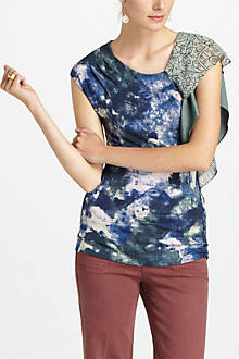 Watercolored Flourish Top