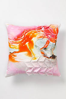 Blurred Geology Pillow, Large Square