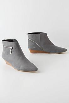Zip Wedge Boots