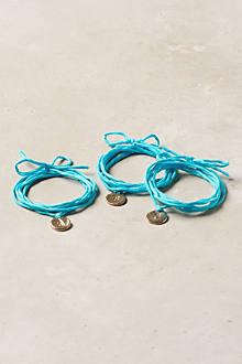 Monogram Wrap Bracelet, Blue