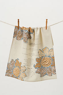 Sunday Supper Dishtowel, Sunflowers
