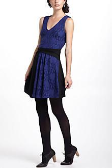 Colorblock Lace Mini Dress