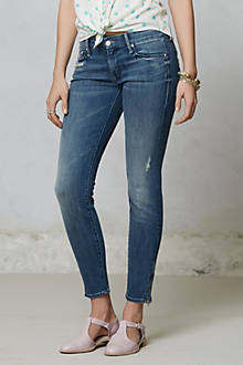 Mother Looker Zip Crop Jeans