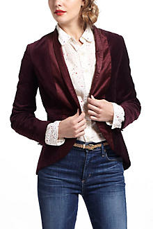 Tailored Velvet Blazer