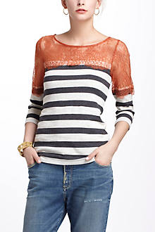 Lace & Lines Pullover