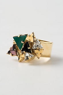 Piled Triangles Ring