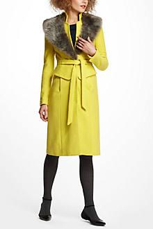 Collared Peplum Coat