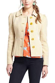 Flecked Peplum Jacket