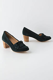 Suede Moccasin Pumps