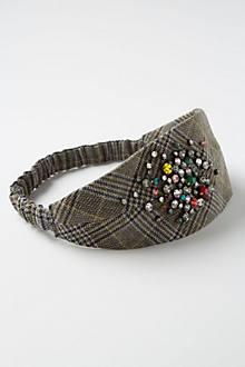 Glimmered Plaid Headband