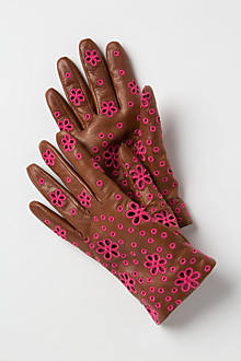 Daisy Eyelet Gloves