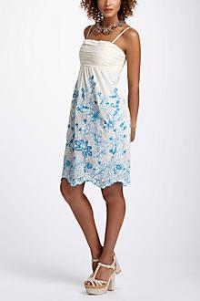 Stitched Cornflower Mesh Dress