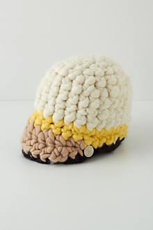 Handknit Colorblock Cap