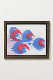 Blue Red Print