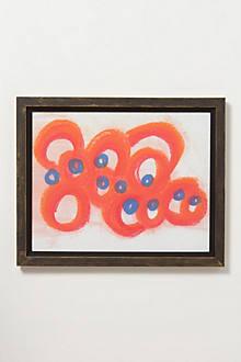 Orange Blue Print
