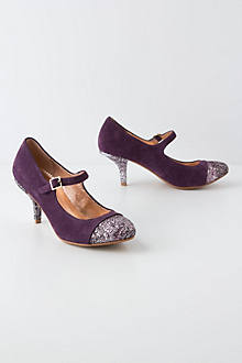 Glitter-Capped Mary-Janes