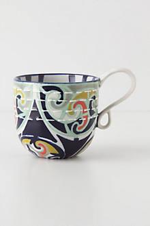 Kantha-Stitched Mug