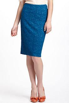 Lapis Lace Pencil Skirt