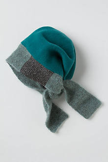Colorblock Boiled Wool Beanie