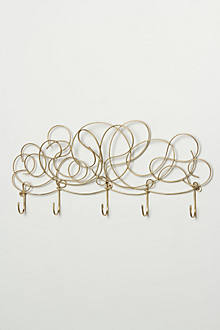 Whirled Metal Hook Rack