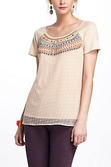 Embroidered Tulle Tee