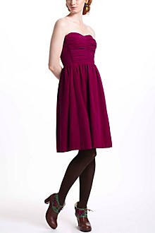 Ruched Corduroy Dress