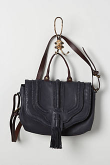 Tasseled Leather Satchel