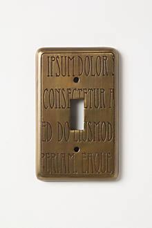 Lorem Ipsum Double Switch Plate