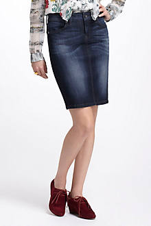 Level 99 Slim Denim Pencil Skirt