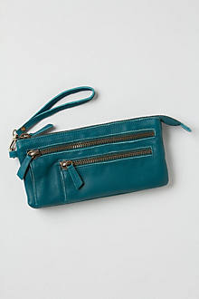 Washed Leather Wristlet