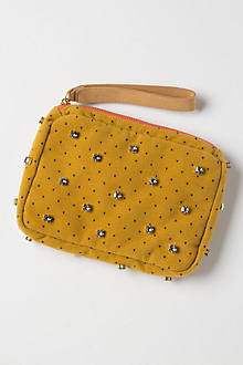 Stone-Dotted Wristlet