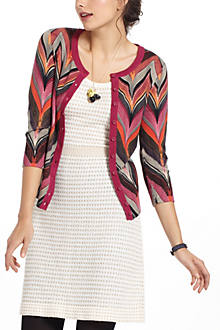 Seared Chevrons Cardigan