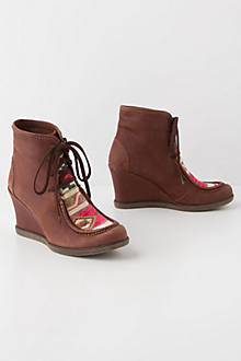 Woven Story Wedge Boots