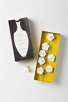 Ceramic Flower Pins