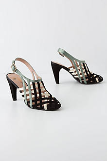 Caged Ribbon Slingbacks