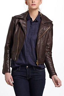 Imogene + Willie Leather Motorcycle Jacket