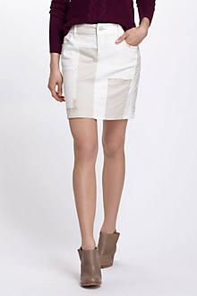 Neutral Patchwork Skirt