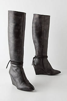Pewter-Dusted Knee Boots