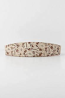 Pierced Floral Corset Belt