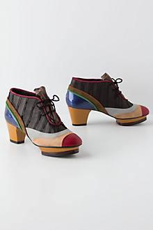 Sculptural Colorblock Lace-Ups