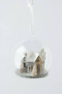 Heaven & Hearth Snow Globe, White