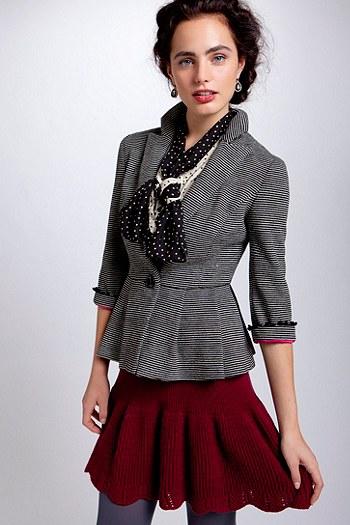 Striped blazer via Anthropologie