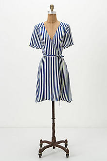 Capri Stripe Wrap Dress