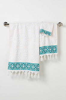 Rimmed Geometry Towels