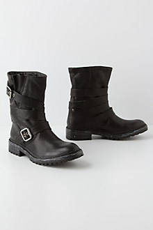Buckle-Wrapped Moto Boots