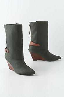 Waxed Canvas Wrap Boots