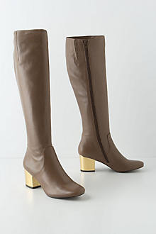 Brass-Heeled Knee Boots