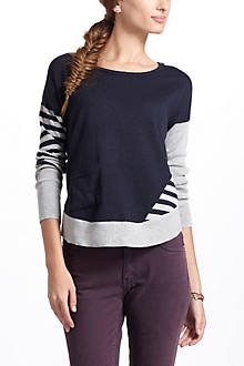 Sporadic Stripes Dolman Sweater